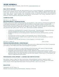real estate agent resume objective example broker free sample word