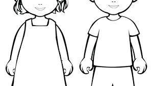 Coloring Page Of A Boy Standing Littapescom