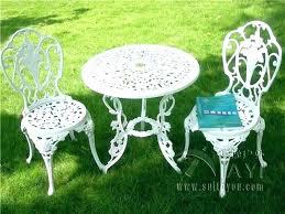 white iron garden furniture. White Patio Furniture Set Cast Iron Wrought Bistro . Garden N