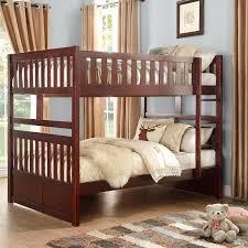 kids wooden bunk beds kids bedroom furniture set twin over twin children brown solid wood bunk kids wooden bunk beds