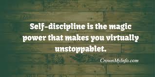 Discipline Quotes Mesmerizing Self Discipline Quotes Crown My Info