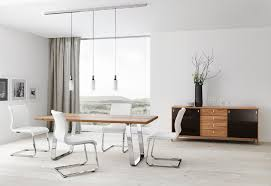 amazing modern dining room furniture on table chrome white chairs track lighting