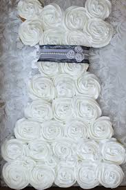Bridal Shower Wedding Dress Cake With Cupcakes CakeCentral