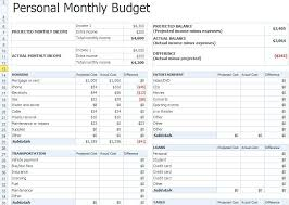 Monthly Budget Excel Spreadsheet Template Free My Excel Templates