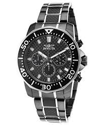 invicta pro diver chronograph carbon fiber dial two tone men s carbon fiber dial two tone men s watch 17257 move your mouse over image or click to enlarge