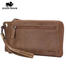details about men clutch bag genuine leather wrist wallet leather money purse