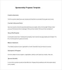 Example Of A Sponsorship Proposal Magnificent Sponsorship Proposal Template Free Word Excel Format Within Sponsor