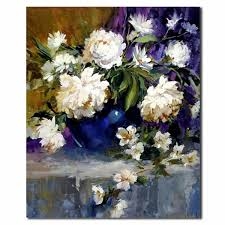 beautiful flower paintings on canvas white flower oil painting decorative flower canvas oil painting