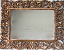 hand holding antique mirror. Mirror Wooden Gold Carved French Provincial Le Forge Hand Holding Antique E