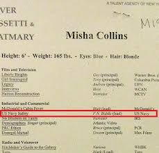 Amazing Misha Collins Resume Pictures - Simple resume Office .