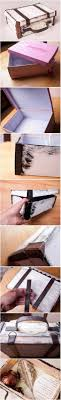 bedroom vintage ideas diy kitchen: diy suitcase out of shoe box by ania inspiruje ltlt gtgtgt more creative ideas maybe diy box and an old leather purse or belt for pictures from travel