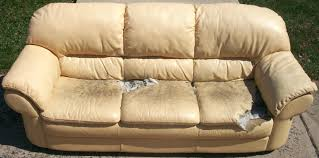worn white leather couch sofa repair gecalsa kit lowes canadian tire patch diy india tape