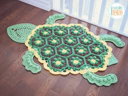 Bubbles the Turtle Rug PDF Crochet Pattern IraRott Inc Inspiration Crochet Patterns