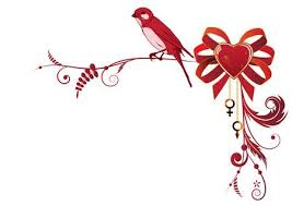 Vector Valentine Border With <b>Bird And Heart</b> For Corner Design ...