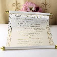 Scroll Birthday Invitations 100pcs Personalized Wedding Invitation Card With Box Scroll Birthday