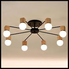 2018 Wood Led Ceiling Lights Living Room Bedroom Children'S Room Ceiling  Lamp Modern Study Lustre Baby Home Lighting Chandelier Fixture From  Gylighting0717, ...