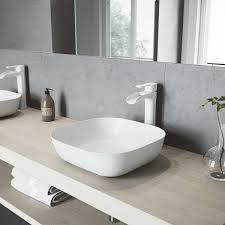 vigo bathroom faucets. VIGO Niko Matte White Vessel Bathroom Faucet - Free Shipping Today Overstock 26353186 Vigo Faucets T