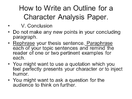 english and honors english composition notes ppt how to write an outline for a character analysis paper