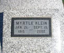 Myrtle Klein (1915-2002) - Find A Grave Memorial