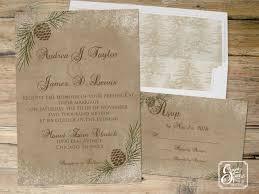 Rustic Winter Wedding Invitations Pinecone Winter Wedding Invitation Rustic Wedding Invitation