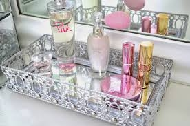 image of small mirrored perfume tray