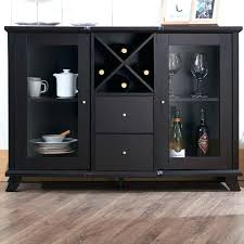 awful black sideboards and buffets glass front buffet sideboard with doors drawers side sideboard buffet glass
