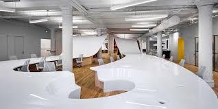 office world desks. World\u0027s Longest Desk? Massive, Undulating Desk Accommodates 145 Office Workers [video] | Building Design + Construction World Desks A