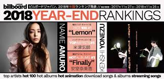 Billboard Charts By Year Billboard Japan Releases Its Year End Charts For 2018