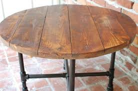 rustic round coffee table used