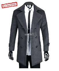 mens black winter coat fashion men cashmere wool coat jackets outerwear winter windproof wool coats plus size slim fit thickening male coat from mens black