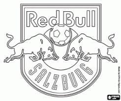 Fc Red Bull Salzburg Badge Coloring Page Printable Game
