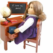 american girl doll school fun finds ag doll gifts vintage style wooden school desk