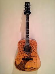Guitar Design Art Guitar Pyrography I Strip The Guitar Top And Wood Burn