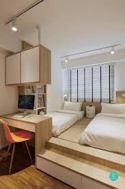 Study Table Designs For Small Bedroom Platform Bed With Study Table Can Act As Divider To Next
