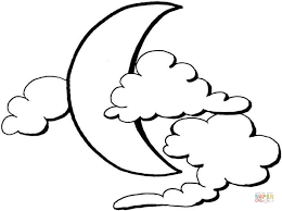 Small Picture Moon And Clouds Coloring Page Free Printable Coloring Pages