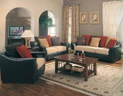 ... Astounding Accent Pillows For Leather Sofa In Living Room Decoration :  Exciting Living Room Decoration With ...
