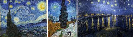 a collection of paintings featuring the stars by vincent van gogh l