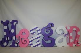 view larger wood letters