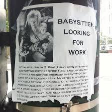 Babysitting Ads Funny Babysitting Ads Fit Foodie Mom