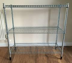 2 x ikea omar galvanised shelving storage units adjule shelves