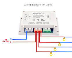 sonoff 4ch(r2) 4 gang multi control wifi light switch itead Wiring Schematics for Cars at N 4x24 Understanding The Wiring Schematics