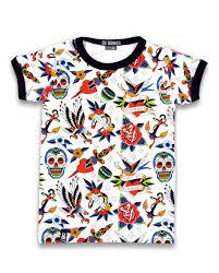 Six Bunnies Tattoo Shoppe Tee Shirt
