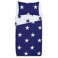 large scale navy star bedding set