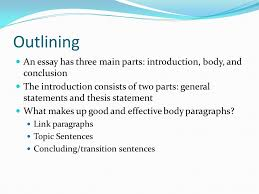Parts Of A Essay Three Parts Of An Essay Introduction Body Conclusion Ppt Download