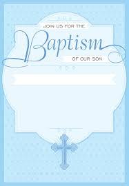 Dotted Blue Free Printable Baptism Christening