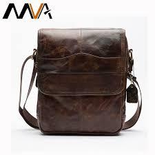 mva men s bags genuine leather male cross bags strap small casual flap men leather messenger bag men s shoulder bag 1121