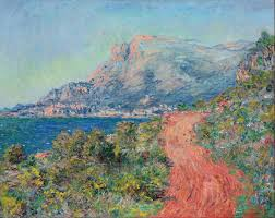 the red road nton by claude monet 1884 style impressionism