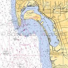 California San Diego Coronado Nautical Chart Decor