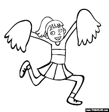 Cheerleading Coloring Page Free Cheerleading Online Coloring