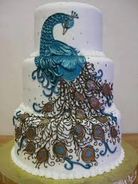 Tall Wedding Cakes An Amazing Peacock Type Wedding Cake Styles To